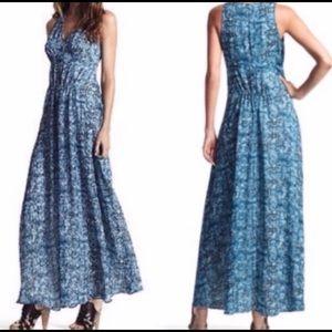 Derek Lam blue armadillo maxi dress size M